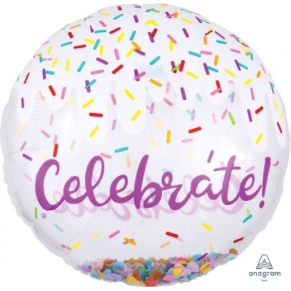 "P60 28"" Confetti Balloon Celebrate Insiders™"
