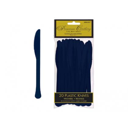 Plastic Knives - Navy Flag Blue
