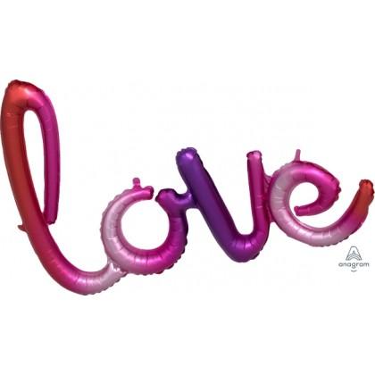 """G40 31"""" (Ombre) Script Phrase : LOVE"""