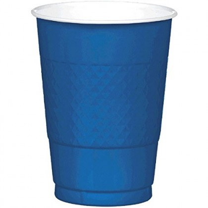 Navy Flag Blue Festive Occasion® Plastic Tableware Cups, 12oz