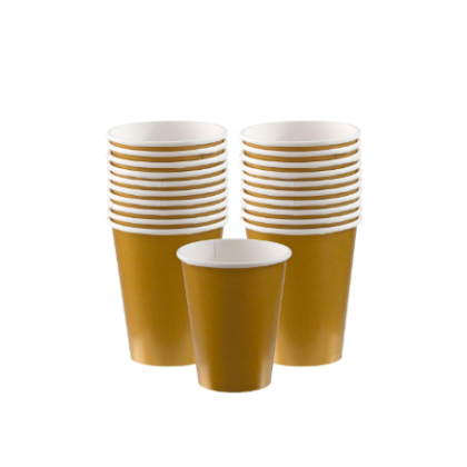 Gold Cups, 9 oz. - Paper