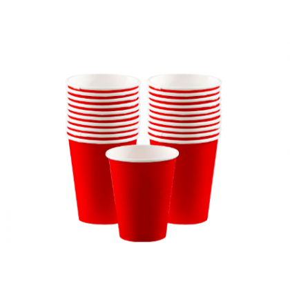 Apple Red  Cups, 9 oz. - Paper