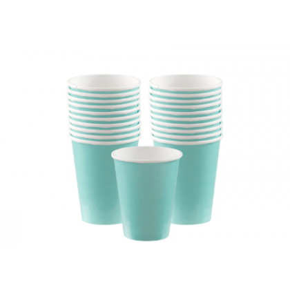 Robin's Egg-Blue Cups, 9 oz. - Paper