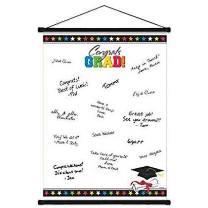 "23"" x 18"" Grad Sign-In Scroll Sheet Paper - Multi"