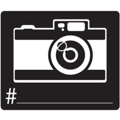 Photo Booth Camera Cutout Printed Paper