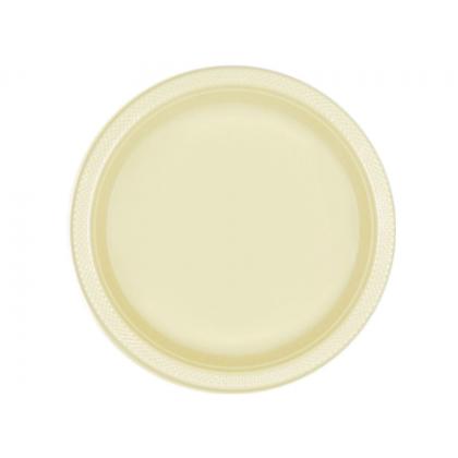 """Vanilla Creme Festive Occasion® Plastic Tableware Plate, 9"""""""