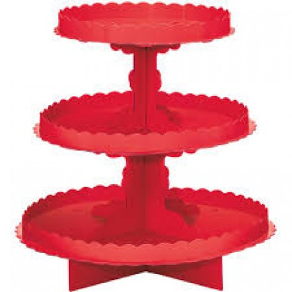 Cardboard Treat Stands Apple Red