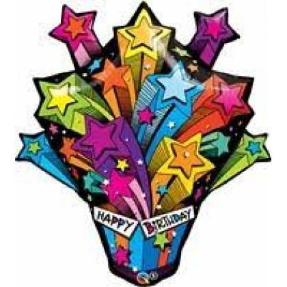 "Q 35"" Shooting Stars Birthday"