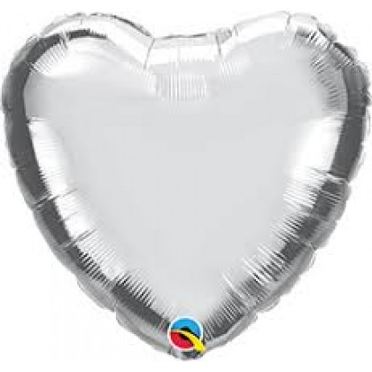 "Q 36"" Silver Heart MircroFoil"