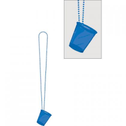 """32"""" Shot Glass Necklaces - Blue"""