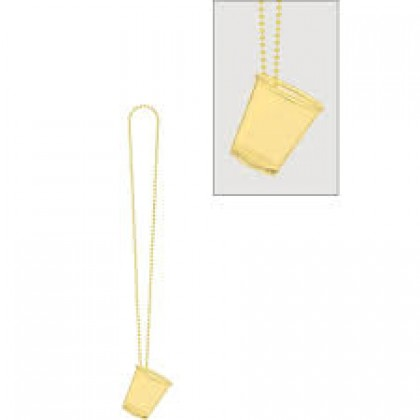 """32"""" Shot Glass Necklaces - Gold"""