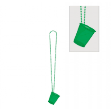 """32"""" Shot Glass Necklaces - Green"""