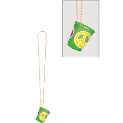 "32"" Shot Glass Necklaces - Neon"