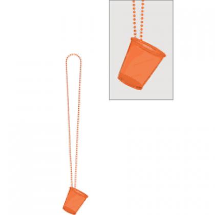 "32"" Shot Glass Necklaces - Orange"