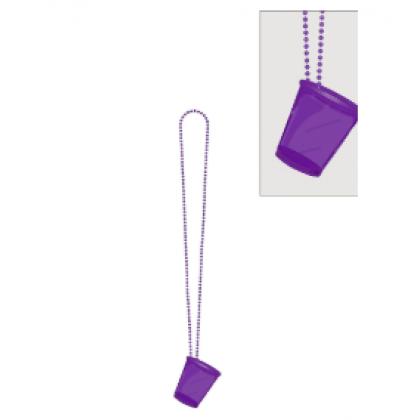 """32"""" Shot Glass Necklaces - Purple"""