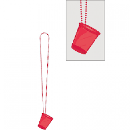 """32"""" Shot Glass Necklaces - Red"""