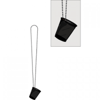 """32"""" Shot Glass Necklaces Black"""