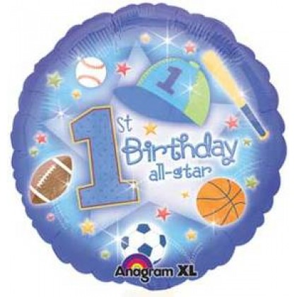 "S40 17"" First Birthday All-Star Standard XL®"