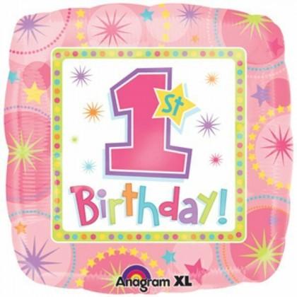 """S40 17"""" ONE-DERFUL Girl 1ST Birthday Standard HX®"""