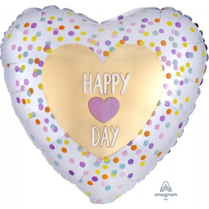 """S40 17"""" Satin Infused Heart Day Standard HX®"""
