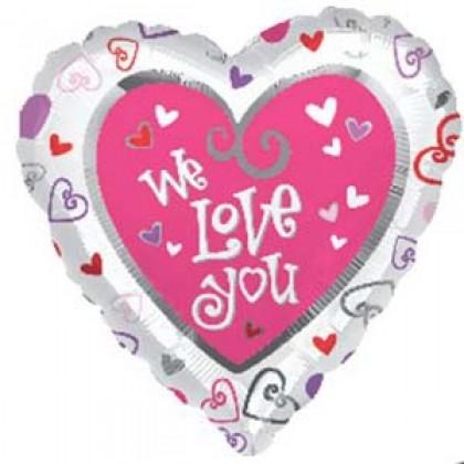 "S40 17"" Simply Said We Love You Standard HX®"