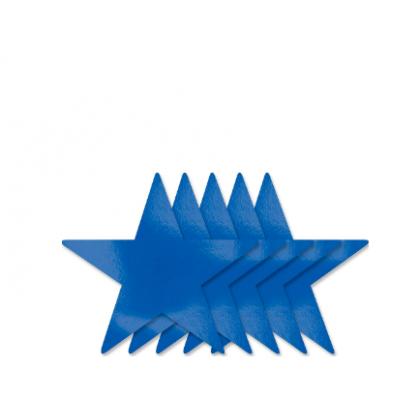 5 Large Star Cutouts - Bright Royal Blue