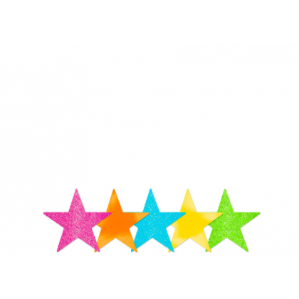 """5"""" Packaged Star Cutouts Multi"""