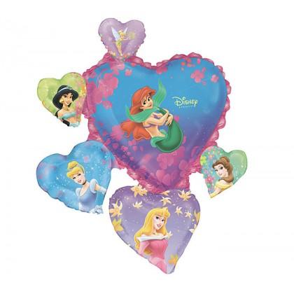 "P38 34"" Multi-Princesses Heart SuperShape™ XL®"