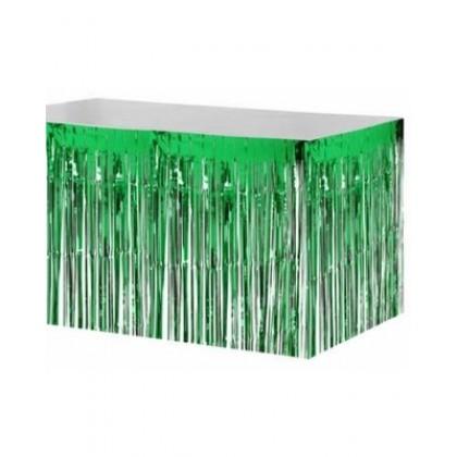 "29"" x 12"" Metallic Fringed Table Skirts - Green"