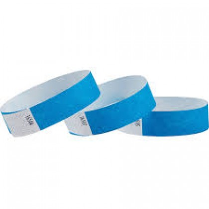 100-Pack Solid Wristbands Blue