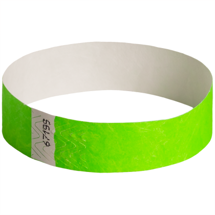 100-Pack Solid Wristbands Green