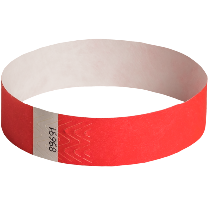100-Pack Solid Wristbands Red