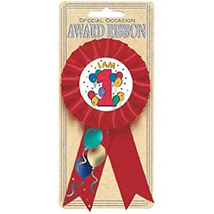 """5 1/2"""" Balloon Party 1 Award Ribbons"""