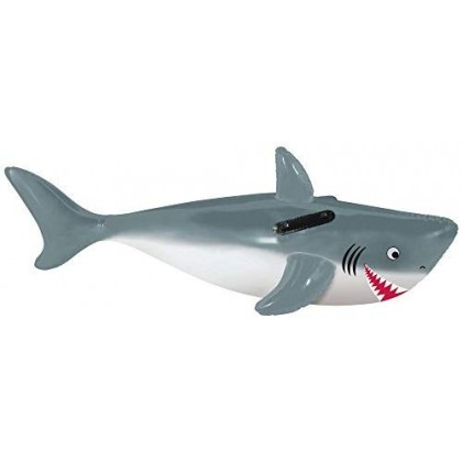 """51"""" Shark Ride-On Pool Toy Inflatable"""