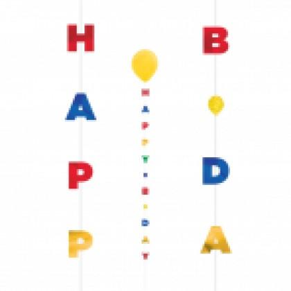 6 Balloon Fun Strings Happy Birthday