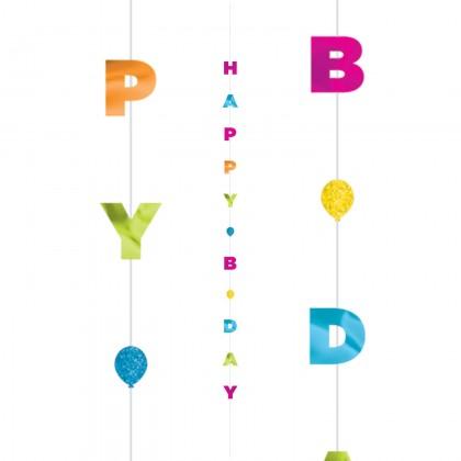 6 Balloon Fun Strings Happy B