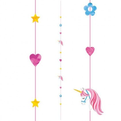 6 Balloon Fun Strings Unicorn