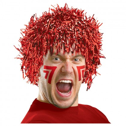 Adult/Child Fun Wigs Red