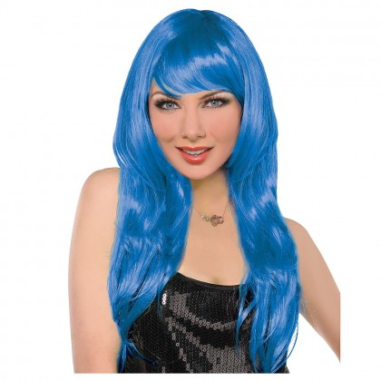 Adult/Child Glamarous Wigs Blue