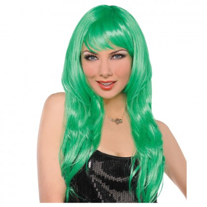 Adult/Child Glamarous Wigs Green