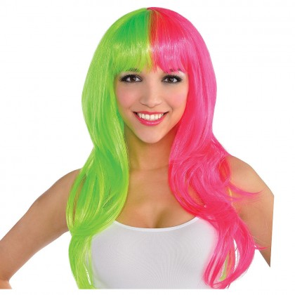 Adult/Child Glamarous Wigs Neon