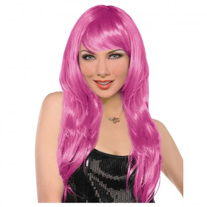 Adult/Child Glamarous Wigs Pink