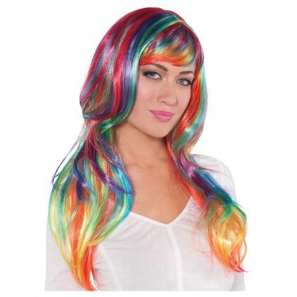 Adult/Child Glamarous Wigs Rainbow