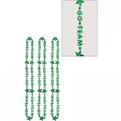 "32"" Word Bead Necklaces (Go Team) - Green"