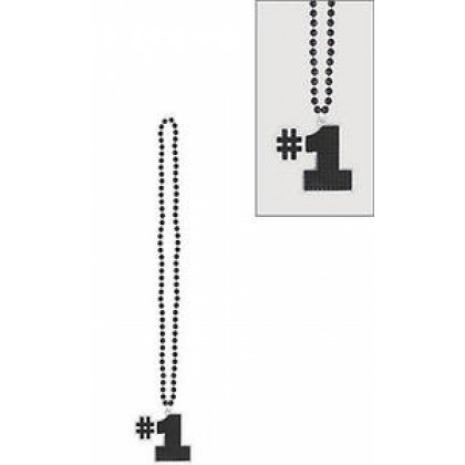 "32"" Word Bead Necklaces (Go Team) - Black"