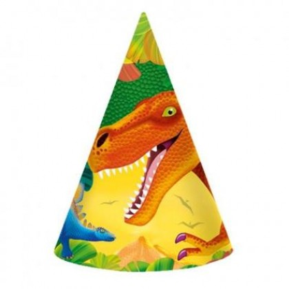 Prehistoric Party Cone Hats - Paper