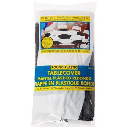 Soccer Refresh Round Table Cover w/Elastic