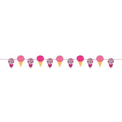 Sweet Party Fluffy Garland - Printed Paper & Tissue
