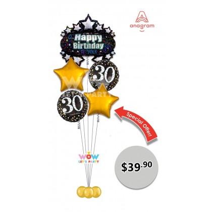 Happy 30th Birthday Balloon Bouquet