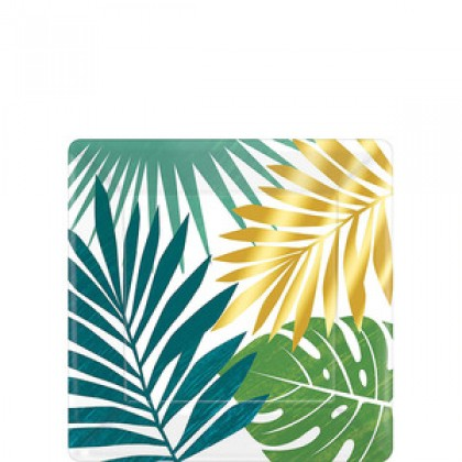 Key West Metallic Square Plates 7 in